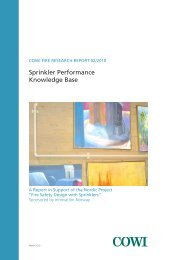 Sprinkler Performance Knowledge Base - COWI