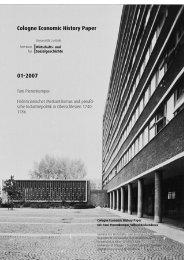 Cologne Economic History Paper 01-2007 - Seminar für Wirtschafts ...