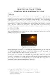 SMOKE CONTROL IN ROAD TUNNELS - HBI Haerter