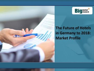 The Future of Hotels in Germany to 2018: Market Profile