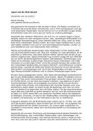 Japan danach - Mag. Stephan Weinberger, Finanz