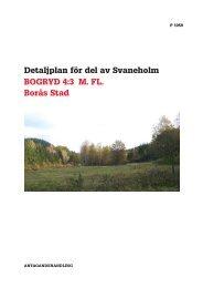 Detaljplan för del av Svaneholm BOGRYD 4:3 M. FL. Borås Stad