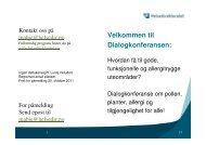 Velkommen til Dialogkonferansen: - FAGUS