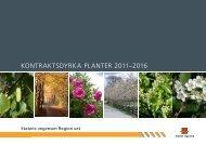 KONTRAKTSDYRKA PLANTER 2011–2016 - Statens vegvesen