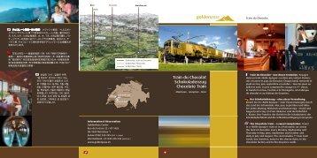 Train du Chocolat Schokoladenzug Chocolate Train - Trenomania