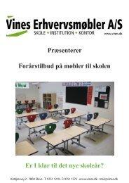 Præsenterer Forårstilbud på møbler til skolen Er I klar til det nye ...