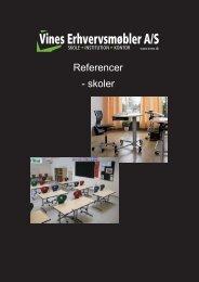 Referencer - skoler - Vines Erhvervsmøbler