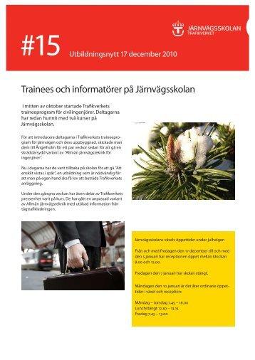 Trainees och informatörer på Järnvägsskolan