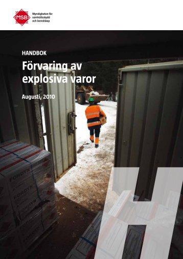 Handbok explosiva varor - Tranemo kommun