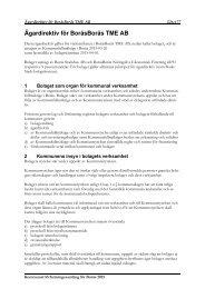 Ägardirektiv för BoråsBorås TME AB 006:177 - Borås Stad