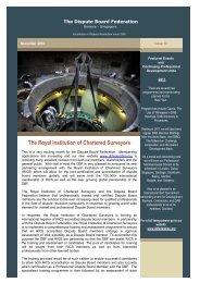 DBF - November 2010 Newsletter - The Dispute Board Federation