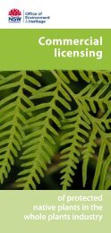 Commercial licensing of protected native plants in the whole plants ...