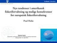 Nye tendenser i amerikansk fiskeriforvaltning og ... - Danske Havne