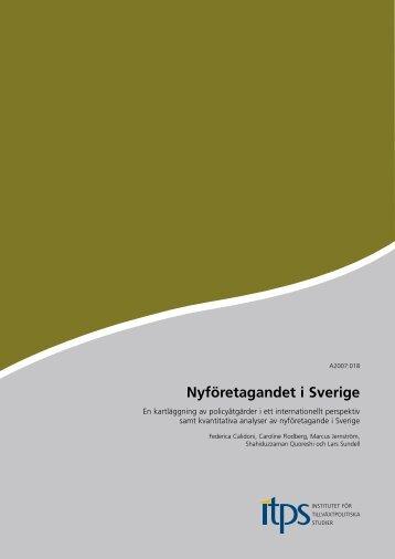Nyföretagandet i Sverige