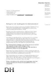 Høringssvar vedr. handlingsplan for ... - Danske Havne