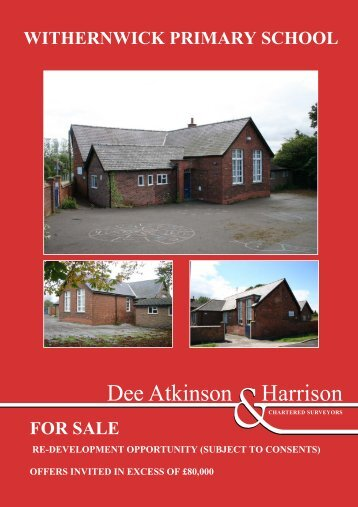WITHERNWICK PRIMARY SCHOOL FOR SALE
