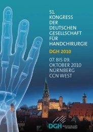 07. bis 09. OktOber 2010 NürNberg CCN West 51. Kongress ... - DGH