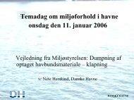 Temadag om miljøforhold i havne onsdag den 11 ... - Danske Havne