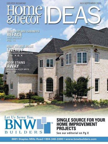 Home & Decor IDEAS Magazine - BNW Builders