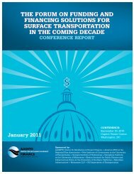 Funding and Financing Solutions for Surface Transportation