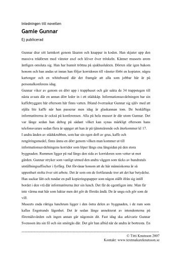 Gamle Gunnar (pdf) - Textmakare Knutsson