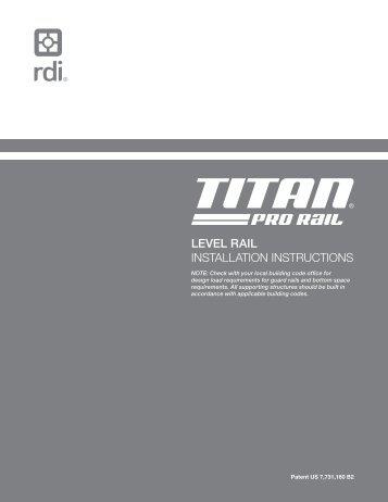 LEVEL RAIL INSTRUCTIONS - Railings - Railing Dynamics
