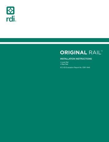 Endurance Original Rail Installation Instructions - Railing Dynamics