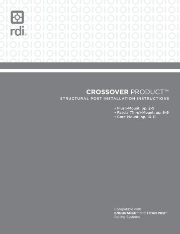 Download > Endurance Crossover Product ... - Railing Dynamics