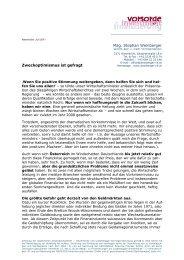 Newsletter Juli 2011 - Mag. Stephan Weinberger, Finanz