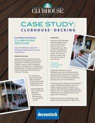 Clubhouse Decking Case Study - Deceuninck North America