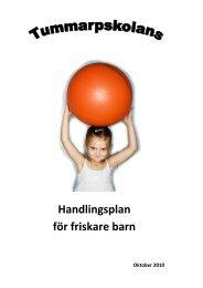 Handlingsplan för friskare barn