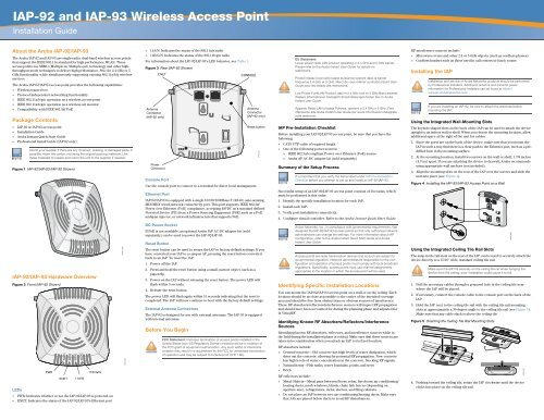 IAP-92 and IAP-93 Wireless Access Point - Support - Aruba