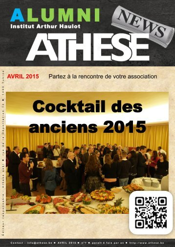 ATHESE - Newsletter 1 - Avril 2015