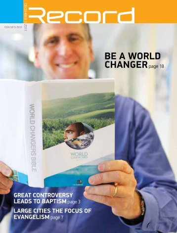 BE A WORLD CHANGERpage 18 - RECORD.net.au