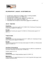 DELÅRSRAPPORT 1 JANUARI – 30 SEPTEMBER 2004 ...