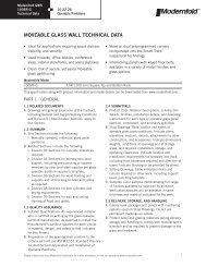 Glass Wall 100SRG Technical Data Sheet - Modern Door ...