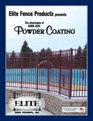 Elite Fence - Powder Coating - Elite Fence Products, Inc