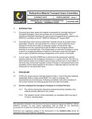 Transport of category iv radioactive material – overnight ... - Ramtuc