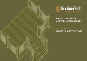 installation and maintenance guide section 1 decking & dryspace