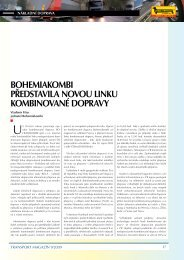 Transport Magazín 9/2009: Bohemiakombi představila novou linku ...