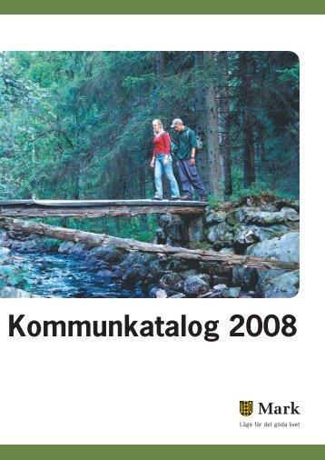 Kommunkatalog 2008 - Marks kommun