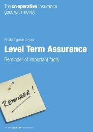 Level Term Assurance - Royal London