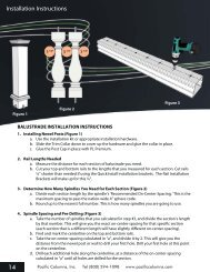 Installation Instructions 14 - Pacific Columns, Inc.