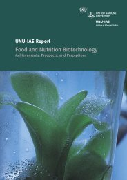 Food and Nutrition Biotechnology - UNU-IAS - United Nations ...