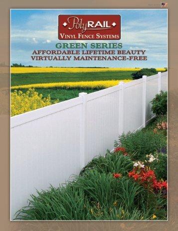 PolyRail Vinyl Fence Brochure - Digger Specialties, Inc.