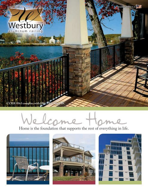 Westbury® Aluminum Railing Brochure - Digger Specialties, Inc
