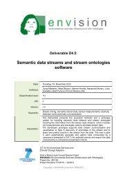 Semantic data streams and stream ontologies software - ENVISION ...