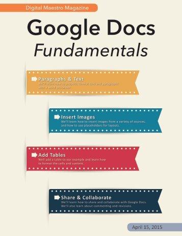 Google Docs Fundamentals
