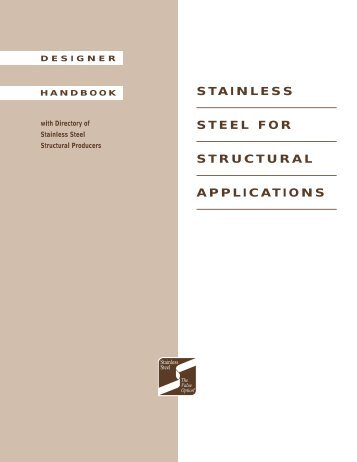 STAINLESS STEEL FOR STRUCTURAL APPLICATIONS - SSINA
