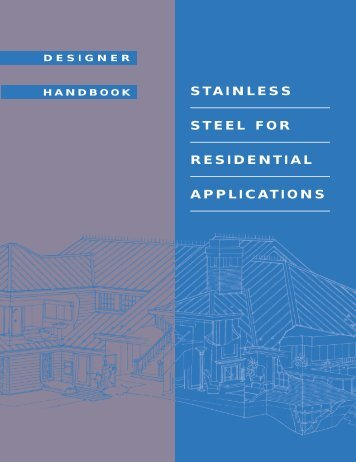 STAINLESS STEEL FOR RESIDENTIAL APPLICATIONS - SSINA